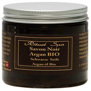 Schwarze Seife mit BIO Arganöl